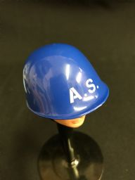 ELITE BRIGADE - Helmet: AIR SECURITY Blue with White Letters Detail - to fit Action Man Gi Joe